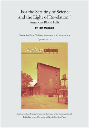 """""""For the Scrutiny of Science and the Light of Revelation"""": American Blood Falls"""