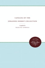 Catalog of the Johannes Herbst Collection