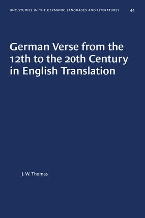 German Verse from the 12th to the 20th Century in English Translation