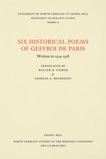 Six Historical Poems of Geffroi de Paris