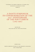 A Dante Symposium in Commemoration of the 700th Anniversary of the Poet's Birth (1265-1965)