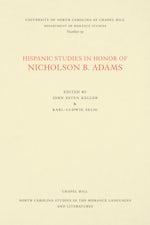 Hispanic Studies in Honor of Nicholson B. Adams