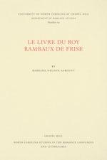 Le Livre du Roy Rambaux de Frise