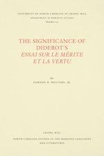 The Significance of Diderot's Essai sur le mérite et la vertu