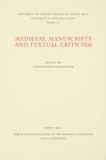 Medieval Manuscripts and Textual Criticism