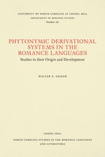 Phytonymic Derivational Systems in the Romance Languages