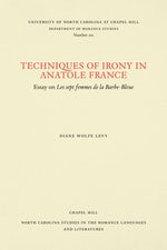 Techniques of Irony in Anatole France