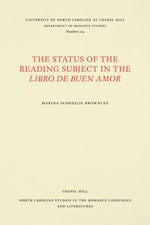 The Status of the Reading Subject in the Libro de Buen Amor