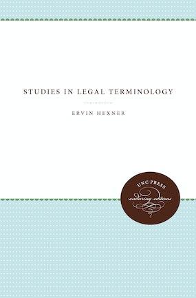 Studies in Legal Terminology