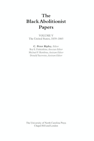 The Black Abolitionist Papers