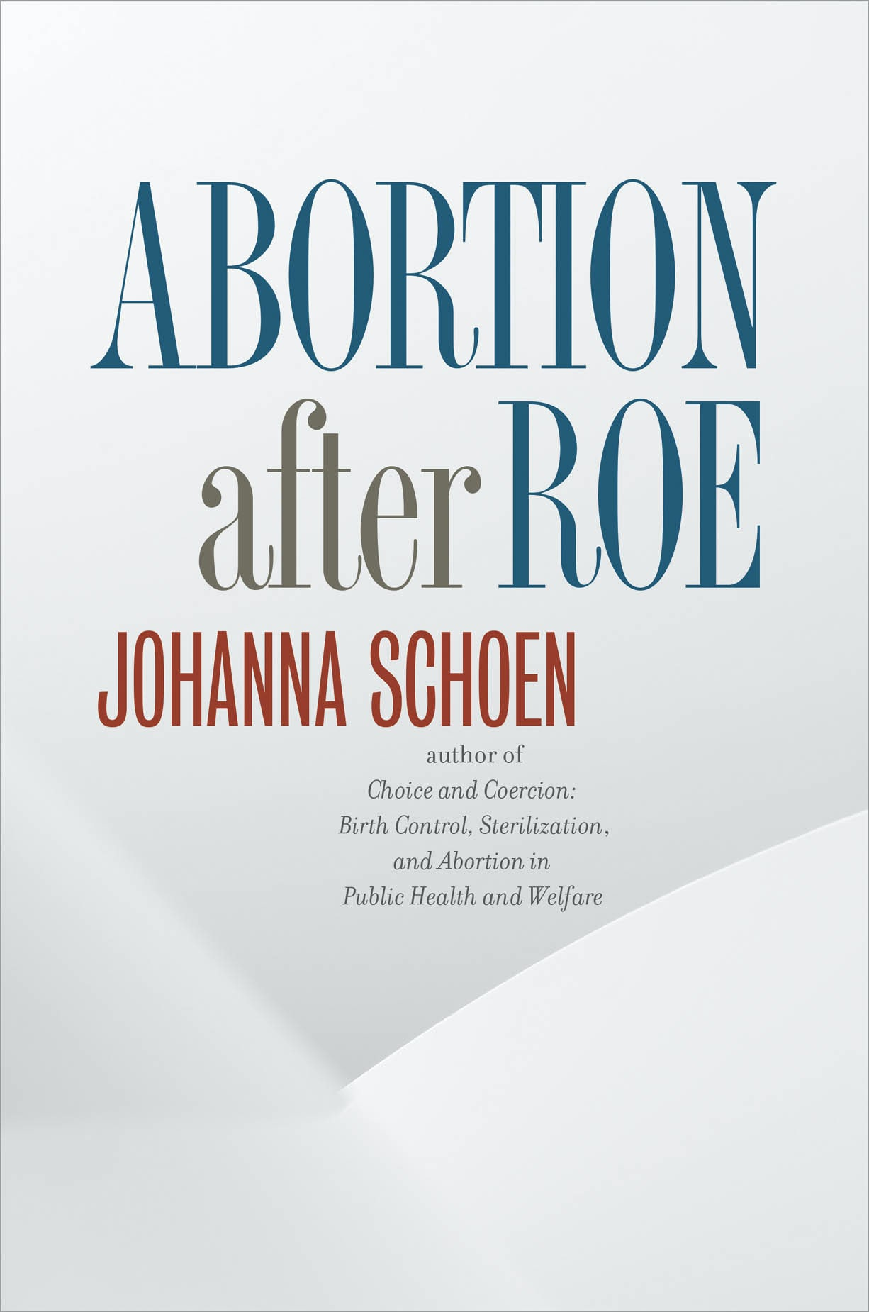 Abortion after Roe: Abortion after Legalization (Studies in Social Medicine)