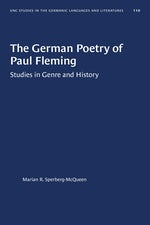 The German Poetry of Paul Fleming