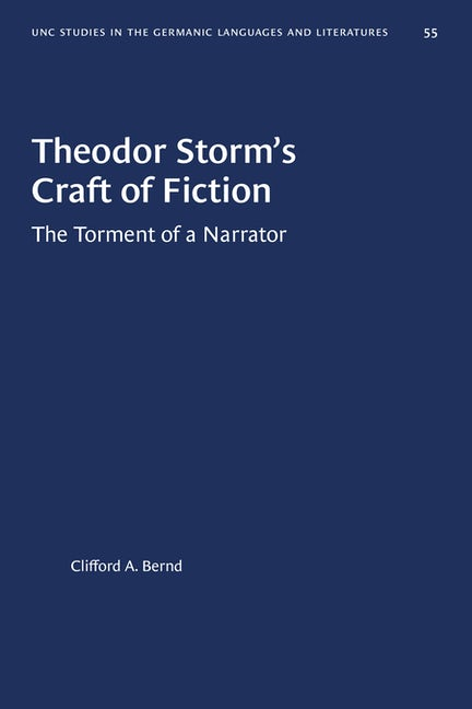 Theodor Storm's Craft of Fiction