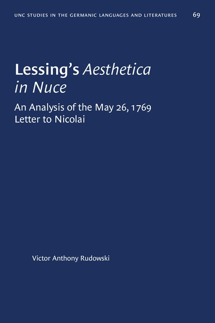 Lessing's Aesthetica in Nuce