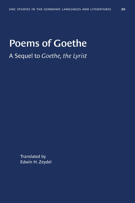 Poems of Goethe